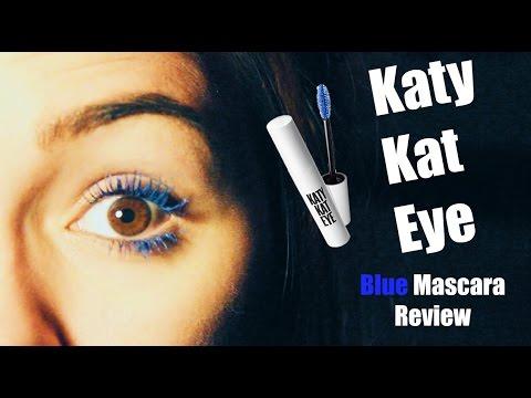 4ae39d56ea8 Katy Kat Eye Blue Mascara review - YouTube