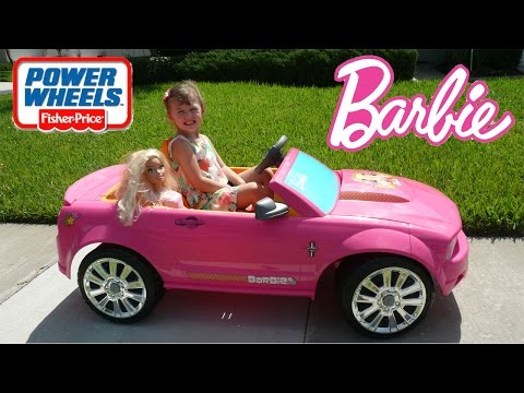 Little Girl Pink Car Power Wheels Ride | Real Life Size Barbie Car