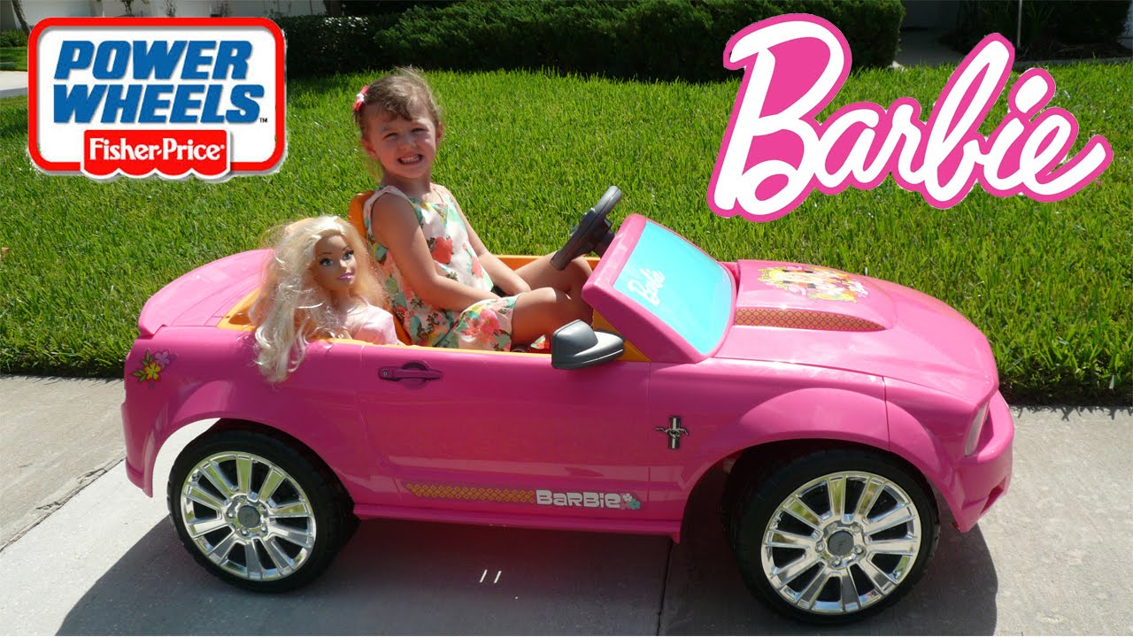 Little Girl Pink Car Power Wheels Ride Real Life Size