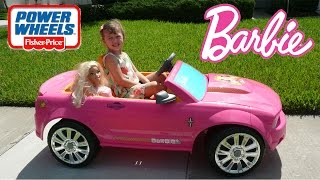 little girl pink car power wheels ride   real life size barbie car