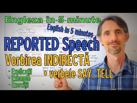 English Grammar - REPORTED SPEECH (Vorbirea Indirecta) - Gramatica Limbii Engleze