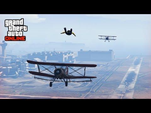 CAN I SKYDIVE THROUGH 2 PLANES!? 🙊 - (GTA 5 Stunts & Fails) / (GTA V Epic & Funny Moments)