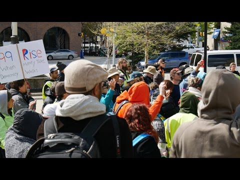 Democracy Spring Protesters Stop in Baltimore En Route to DC