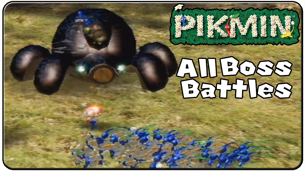 Pikmin 1 All Bosses Youtube