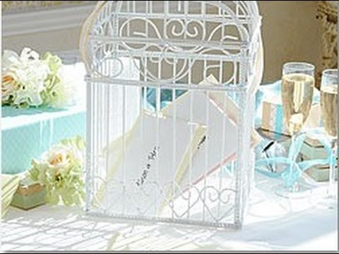 Birdcage Wedding Card Holder Youtube