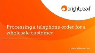 Sales: Wholesale telephone orders