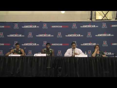USF Orlando Antigua, Chris Perry, Angel Nunez AAC MBB Championship First Round Postgame Press Confer