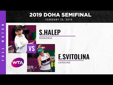 Simona Halep Vs. Elina Svitolina | Full Match | 2019 Doha Semifinal