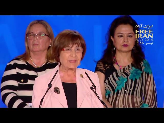 MEK Free Iran rally in Albania - Yakin Ertürk speech in annual rally of Iranian opposition
