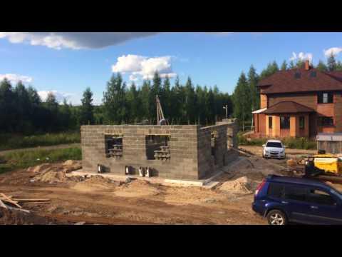 1 Строительство 4х домов с Туле из Теколита (Начало стен)