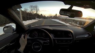 2013 Audi S4 Exhaust Sound Modes Comparison (winding road driving)