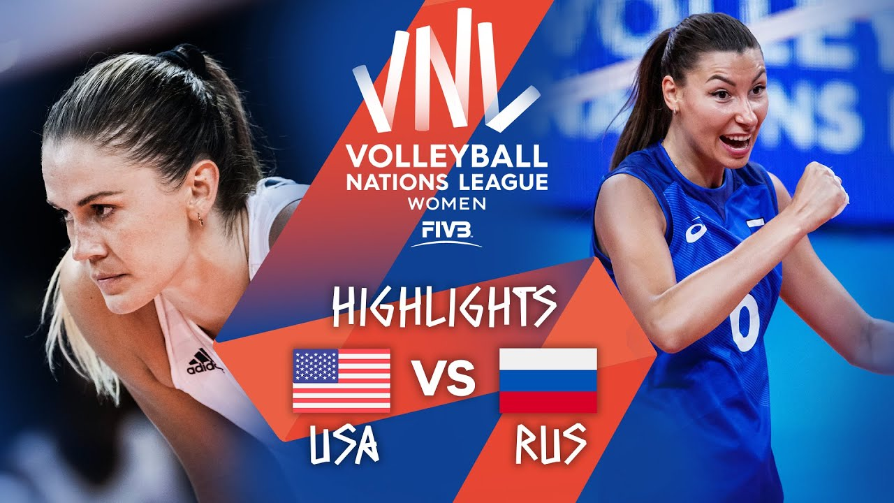 Download USA vs. RUS - Highlights Week 5   Women's VNL 2021