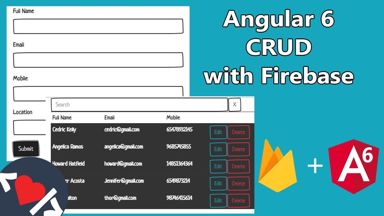 Angular 6 CRUD Operations With Firebase