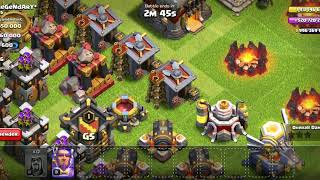 Attack of all max clash of clans troops