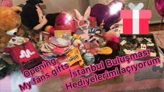 Istanbul buluşması hediyelerimi açıyorum / Opening my fans gifts 🎁 (With English Subtitles)ISTANBUL