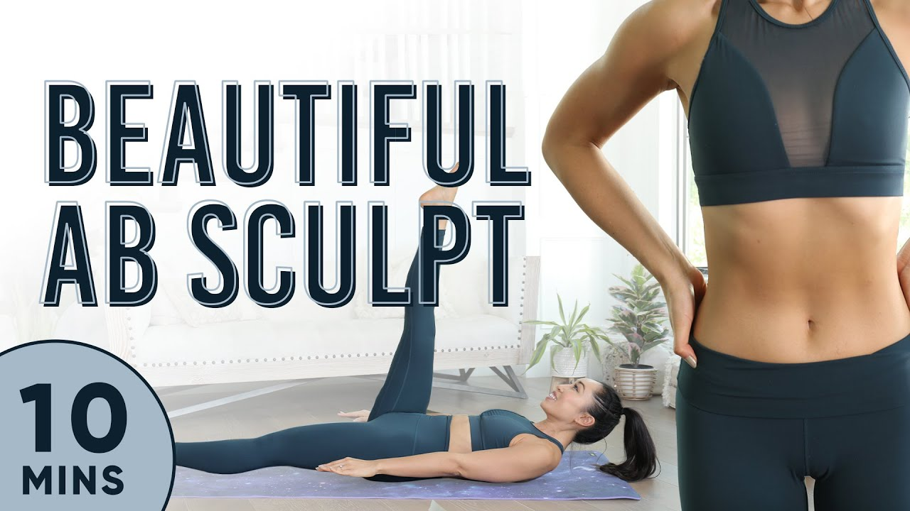 10 Minute Beautiful Ab Sculpt Pilates Workout | 7 Day Ab Challenge