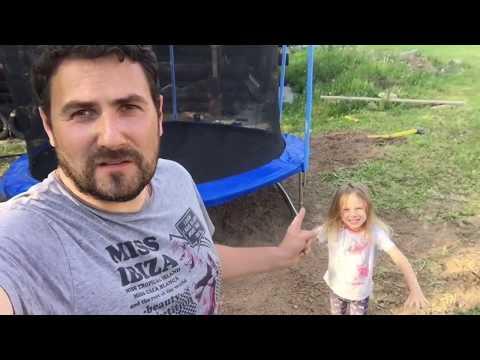 Как разобрать батут с сеткой