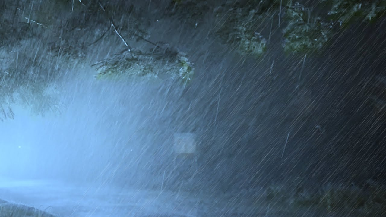 10 Hours of Heavy Rain and Terrific Thunder Sounds in Stormy Night to Sleep Instantly, Stress Relief