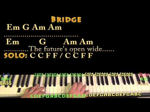 I Melt With You (Modern English) Piano Cover Lesson with Chords/Lyrics - Arpeggios