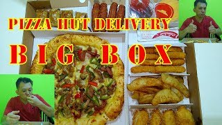 EATING PIZZA HUT BIG BOX FROM PHD