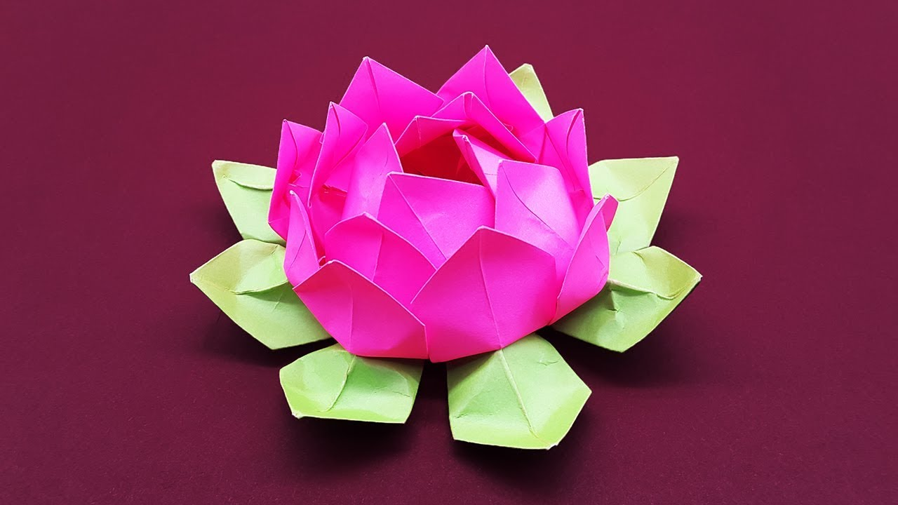 Diy Paper Flower Tutorial Step By Step Beautiful Origami Lotus