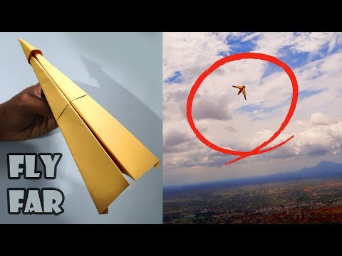 How To Make Paper Airplanes That Fly Far | Paper Planes