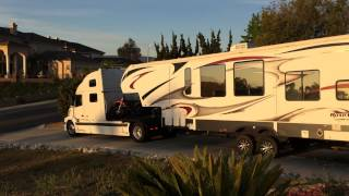 Volvo Rv Hauler With Lifted 5th Wheel Toy Hauler Part 2
