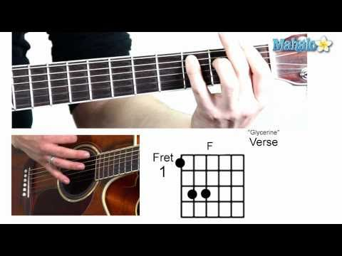 How to Play Glycerine  Bush on Guitar