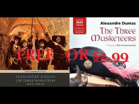 Audible Tip: Three Musketeers by Alexandre Dumas for FREE or $2.99! (For a highly rated narrator!)