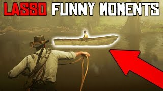 LASSO FUNNY MOMENTS | RDR2 OUTLAWS #12