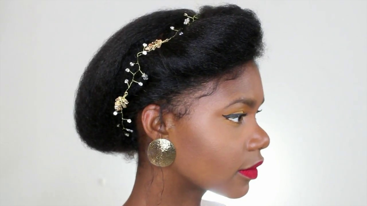 Tuto Coiffure Mariage Facile Sur Cheveux Afro How To Brushing Lissage Cheveux Crepus Sp