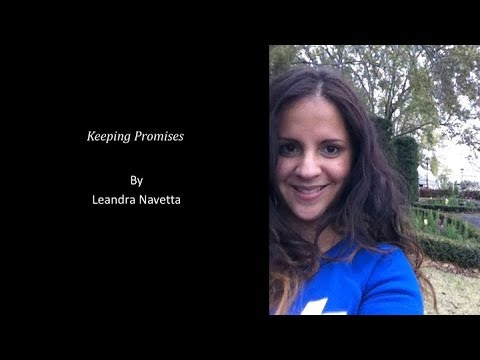 Keeping Promises, written by Leandra Navetta and performed by Paten Hughes