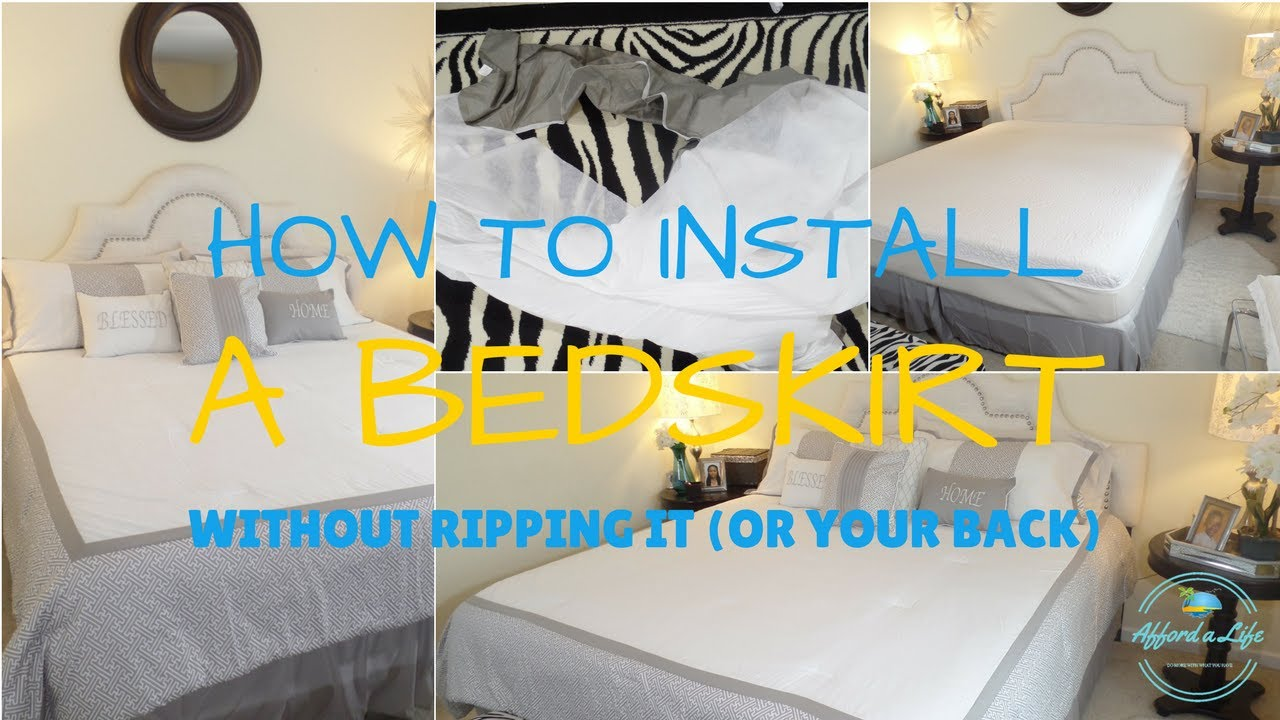 Affordalife Hack How To Securely Install A Bedskirt Without
