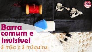Barra comum, invisível: à mão e à máquina para roupas em geral