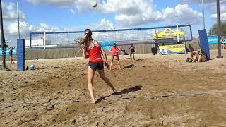 Analy Carbine ( blue tank / leggings ) 2020 5'11 Split Blocker RPM Sand Volleyball AAU 10 / 14 / 18