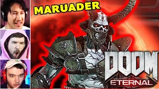 GAMERS REACT To The MARAUDER || DOOM Eternal Reaction