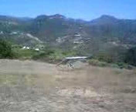 Bad Landing 1 Hanglider Parma Park Santa Barbara phone video