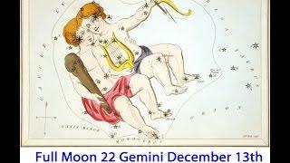 Full Moon 22 Gemini Dec 13, 2016 Listening, Social, Carefree, Lighthearted