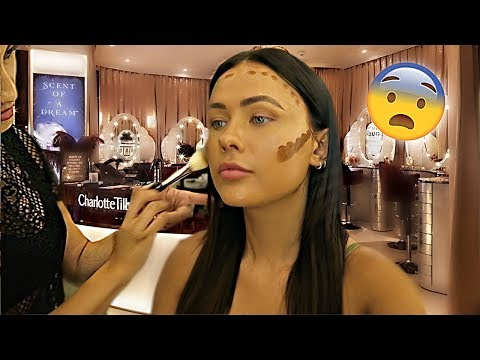 GETTING MY MAKEUP DONE AT A CHARLOTTE TILBURY COUNTER | ItsSabrina
