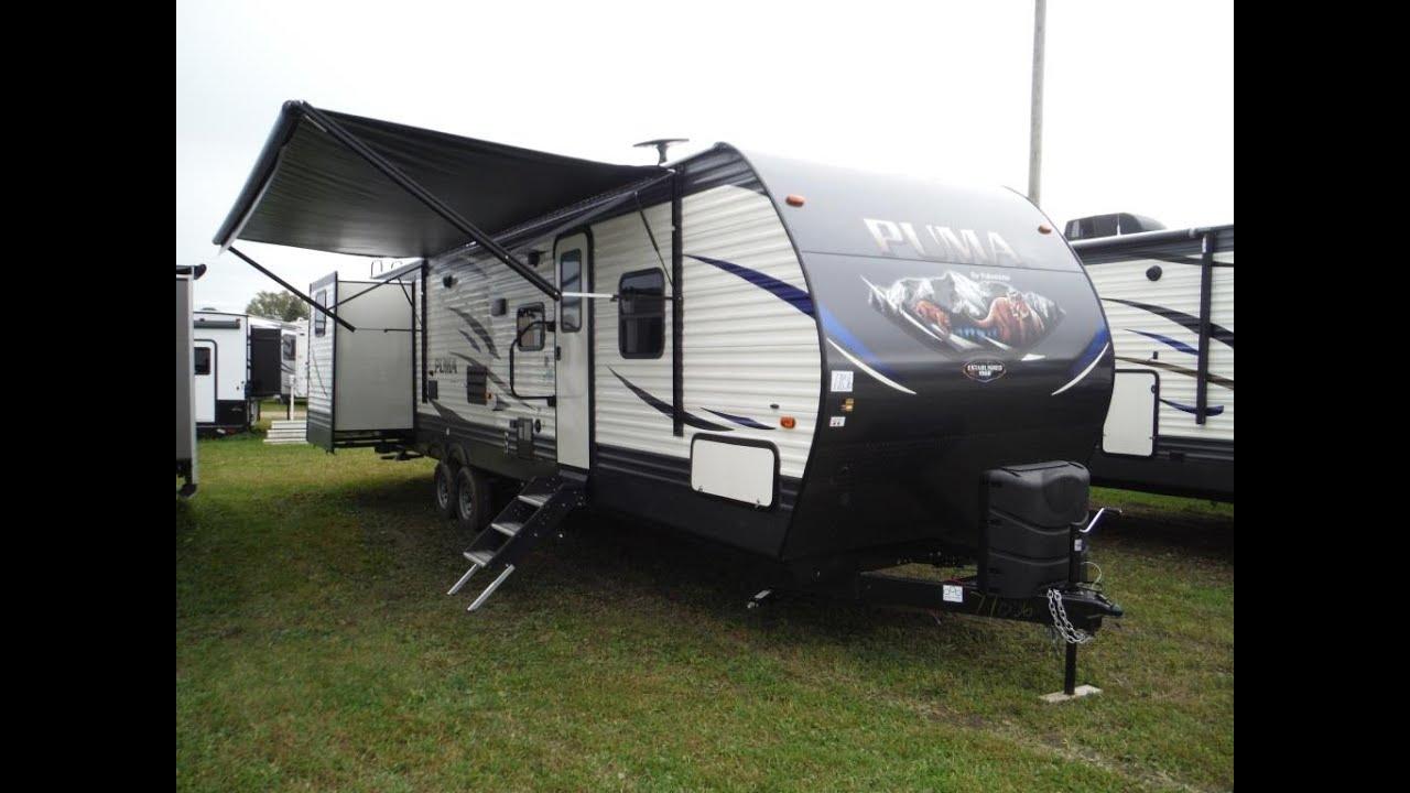 2019 puma 31dbts 2 bedroom travel trailer with quad bunks