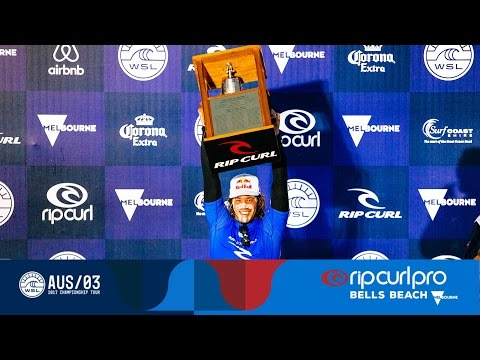 Jordy Rings the Bell - Post Show & Awards Ceremony on Final Day - 2017 Rip Curl Pro Bells Beach