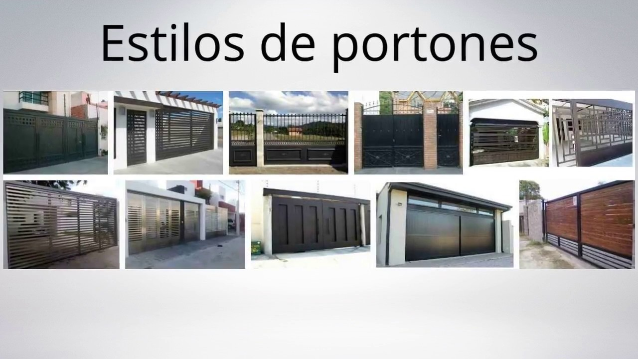Estilos de portones youtube for Modelos de portones de metal