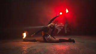 Tournage danseuse feu
