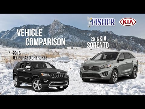 Kia Comparison: 2016 Kia Sorento vs. 2015 Jeep Grand Cherokee