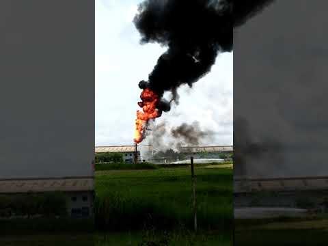 Detik - detik Kebakaran di PHE (Pertamina Hulu Energi) Point' A Lhoksukon Aceh - Indonesia