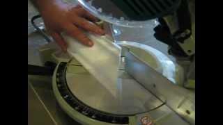 как резать потолочный плинтус(багет )торцовочной пилой(, 2012-08-30T19:09:10.000Z)