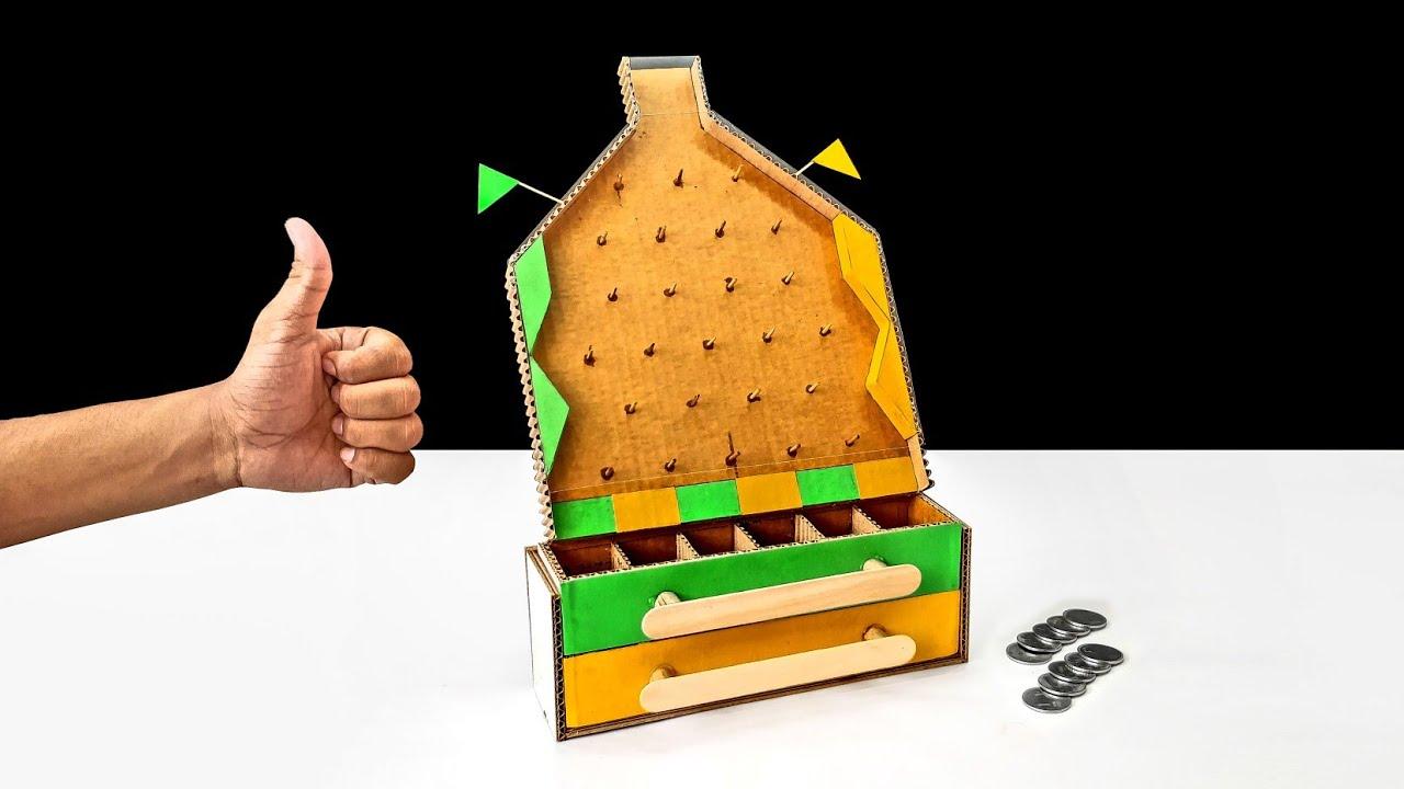 Wow Amazing Diy Plinko Money Making Board Game From Cardboard