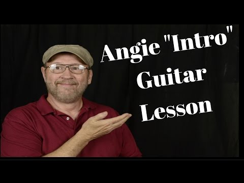 How to Play Angie Intro Guitar Lesson by Rolling Stones