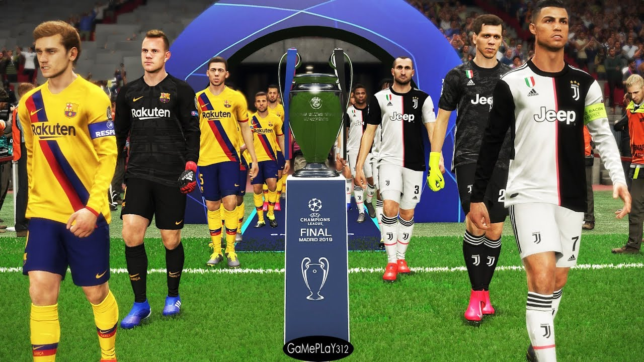 Juventus Vs Barcelona Final Uefa Champions League 2020 Ucl Messi Vs Ronaldo Pes 2019 Youtube