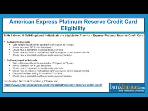 How To Apply For An American Express Platinum Reserve Credit Card